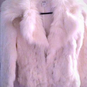 Cache Jackets & Coats - Cache White Fur coat